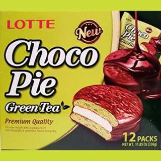 LOTTE Choco Pie in Green Tea