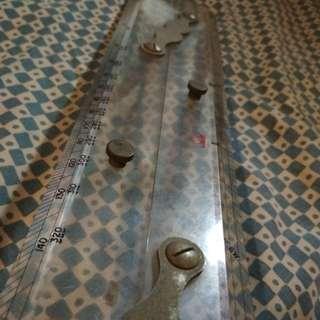 Vintage technical ruler