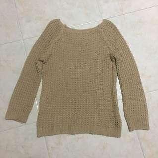 Oatmeal knit sweater