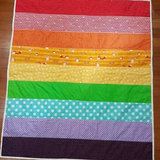 Rainbow Quilted Baby Blanket