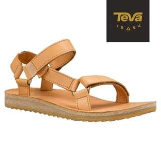 全新 TEVA 美國 Original Universal 真皮織帶涼鞋 (駝色)