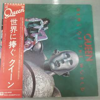 Queen, News Of The World, Japan Press Vinyl LP, Elektra P-10430E, with OBI, 1977, Gatefold
