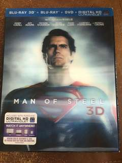 Man of Steel 3D, blu ray