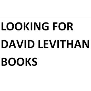 David LEVITHAN  BOOKS