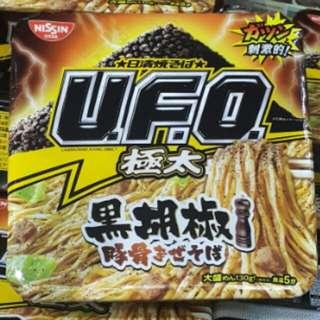日清UFO極太黑胡椒豚骨炒麵