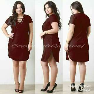 Plus size mini dress