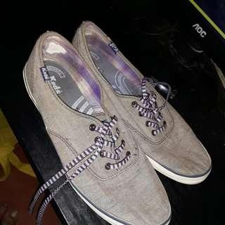 Keds gray shoes.