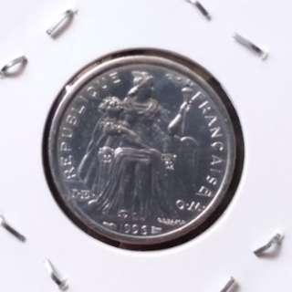 全新南太平洋法屬波利尼西亞1996年1法郎硬幣