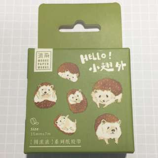 Hedgehog Washi Tape - WT01