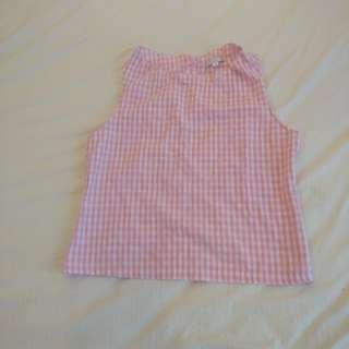 BN Pink Checkered Top