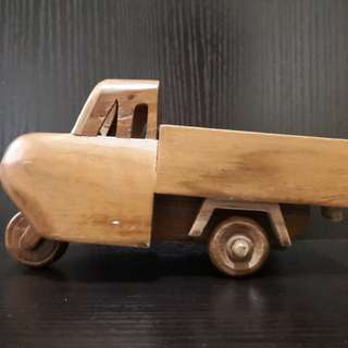 Hand made wooden car