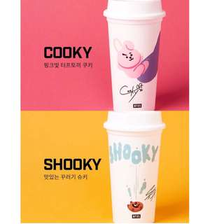 ✨ready stock! BT21 reusable cup