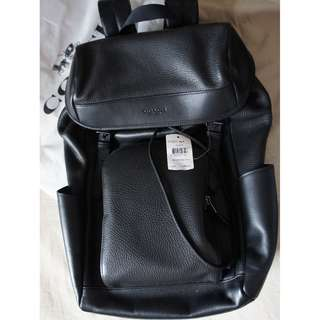100% new Coach Leather backpack 全新全黑色皮革背囊