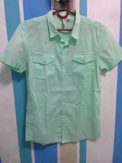 Penshoppe short sleeved mint green polo