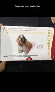 BN Revolution (selamectin) Dogs ( for prevention of ticks, heart worm and more)