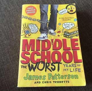 Storybook - Middle School The Worst Days of My Life by James Patterson #bajet20