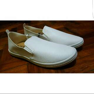 SALE! Kicks White Slip On Sneakers