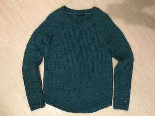 Tommy 墨綠色冷衫