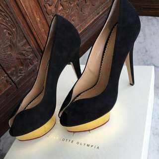 Charlotte Olympia Heels 14 cm Size 39 Black