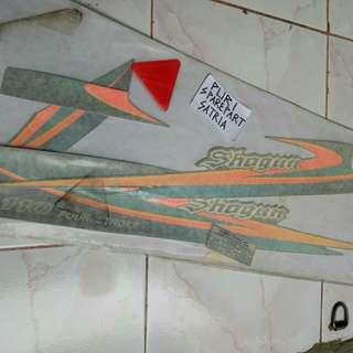 Stiker / Stripping Set Motor Suzuki Shogun 110 '99 Non Disc / Shogun Kebo Hijau Original SGP