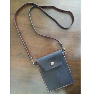 Passport Holder Bag Handmade Leather (Genuine)