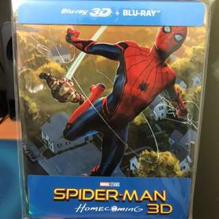Marvel Spider-Man home coming 2D + 3D Blu-ray Steelbook 鐵盒珍藏版 bluray