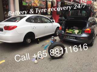 24hr battery & tyre recovery