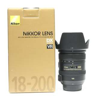 Nikon AF-S 18-200mm F3.5-5.6 VR II Lens