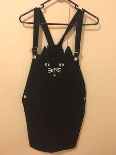Black Kitty Overalls