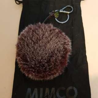 Furry mimco coin pouch