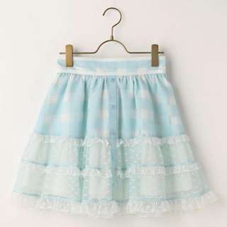 Liz Lisa blue gingham skirt (2017 spring)
