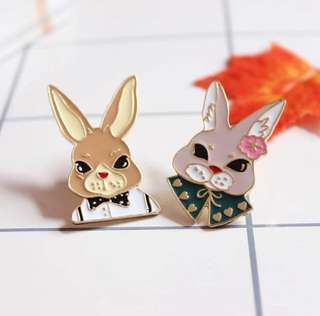 小兔系列心口針