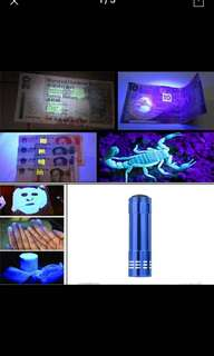 HOT! Super Mini Aluminum UV Ultra Violet 9 LED Flashlight Blacklight Torch Light Lamp Blue
