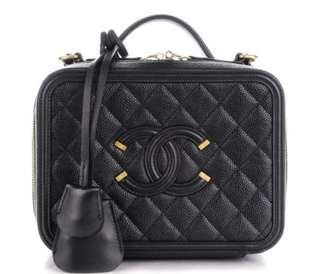 Chanel Vanity case black