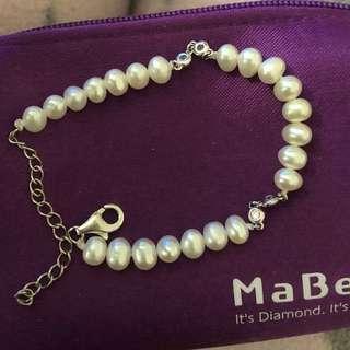 Mabelle 出品925純銀珍珠手鏈