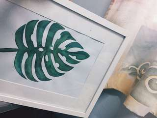 Leaf Watercolor / Art / Calligraphy