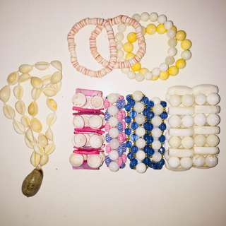 Handmade bracelets and necklaces