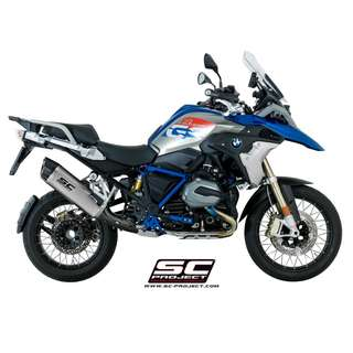 SC PROJECT Adventure Muffler Titanium with carbon cap on BMW - R 1200 GS '17-18 (LTA APPROVED)