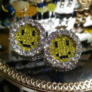 ◈Bling bling Smiley Earrings*現貨