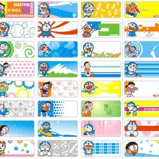 Name Stickers - Doreamon
