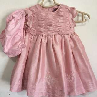 Mamas & Papas Nude Pink Princess Party Dress