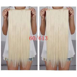 Light Blonde 5 Clips Straight Hair Extensions Clip On