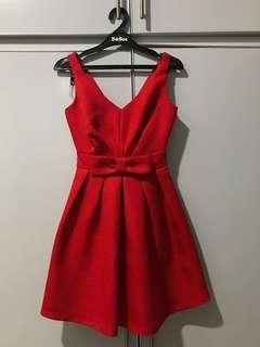 Miss Selfridge Red Bow Dress