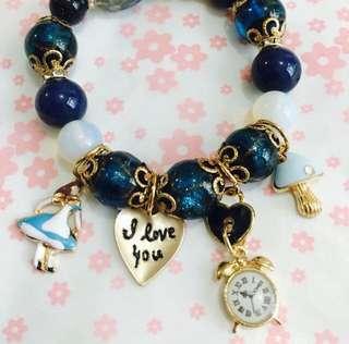 愛麗絲藍砂石手鍊