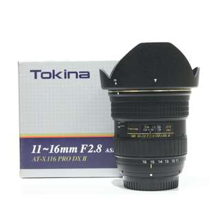 Tokina AT-X 116 PRO DX-II 11-16mm f2.8 Lens for Nikon