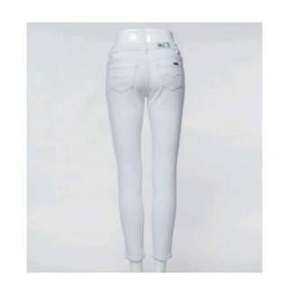 Maong jeans white