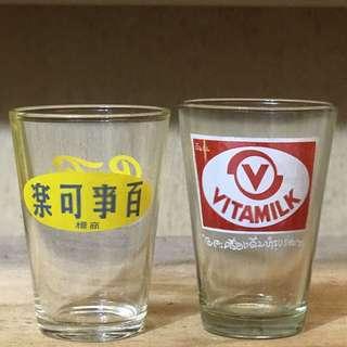 慢寓。VINTAGE 古著 早期 收藏 泰國 泰文字 老杯 / 玻璃杯 / 水杯 / 玻璃水杯