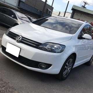 【購車無負擔‧買車夠保障】VW 2012年 GOLF PLUS 頂級版 1.4白 服務實在 值得信賴