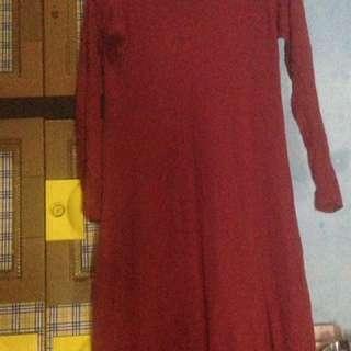 dress / gamis / gamis maroon / dress