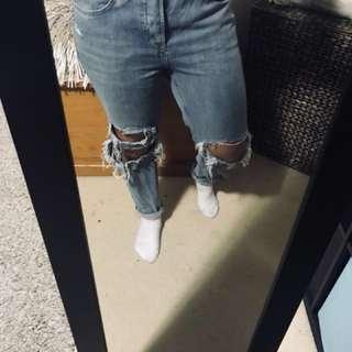Topshop Frayed Boyfriend Jeans